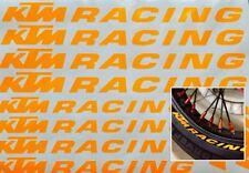 10x KTM UV Orange Moto/Jante Autocollants Graphics Mx Supermotard HiViz