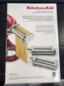 KitchenAid Stand Mixer KSMPRA - 3 Piece Pasta Roller & Cutter Set MINT IN BOX!