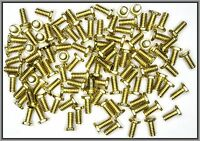 Dingler Schrauben Außensechskant Messing M2x4mm 100 Stück (SK20400) DIN934