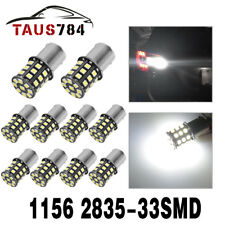 10x Pure White 1156 BA15S 1141 1003 RV Camper Trailer Interior 33-LED Light Bulb
