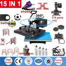 15 In 1 Double Display Sublimation Heat Press Machine T Shirt Heat Printer Cap