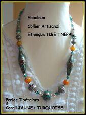 Tibétain Ethnique Banjara Tribal inde boho Laiton Perles 3 Pendentifs Collier R 21