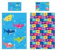 Shark Family Junior/Single Duvet Cover Reversible Bedding Baby Daddy Mummy