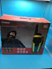 Uniden Emergency Two-Way Radios 40 miles Black & Yellow Sx409-3Ckem 3 Pack New