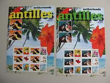 NEDERLANDSE ANTILLEN 2006, SERIE VAN 2 COMPLETE VELLEN, postfris, TOP