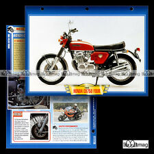 #401.44 Fiche Moto HONDA CB 750 FOUR 1969-1976 Motorrad Motorcycle Card