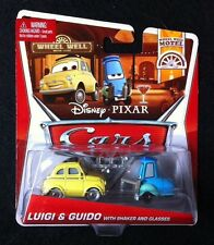 Disney Pixar Cars 2 Luigi & Guido with Shaker and Glasses - Wheel Well Motel MIP