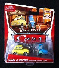 Disney Pixar Cars 2 Luigi & Guido with Shaker and Glasses - Wheel Well Motel MIP