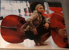 ESPERANZA SPALDING SIGNED AUTOGRAPH CUTE W/ CELLO PHOTO