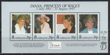 Gibilterra n. 818-821 ** (blocco 32 **) Death of Princess Diana