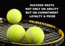 Tennis motivation cite SIGNE / POSTER / print / photo succès repose...