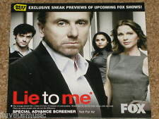LIE TO ME EXCLUSIVE FOX TV Promo DVD + Dollhouse Trailer! Tim Roth ELIZA DUSHKU