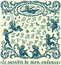 GRILLE POINT de CROIX - LE PARADIS de mon ENFANCE abécédaire - réf : 1027