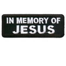 IN MEMORY OF JESUS #2 EMBROIDERED PATCH