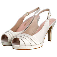 RRP - £79 Top Brand Womens Ladies Floral High Heels Sandals Wedding Party Shoes