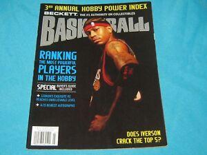 BASKETBALL BECKETT MONTHLY MARCH 2006 ISSUE #188 ALLEN IVERSON - 76ERS