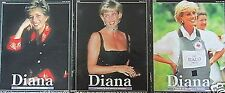 PRINCESS DIANA 3 SET SERIES TRIBUTE PEOPLE'S PRINCESS MAGAZINES RARE