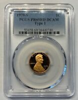 1979-S Type 1 Lincoln Cent PR69RD DCAM PCGS Proof 69 T1 Red Deep Cameo