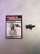 Transformers G1 DINOBOT SLUDGE LAUNCHER MANUAL Paperwork and Rocket Launcher