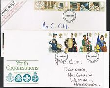 Great Britain 1982. 2 x FDCs Youth Organisations/IT/Communications.