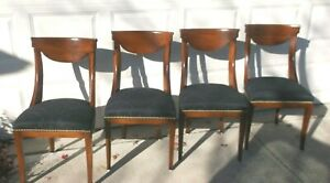 Set of Four Baker-Knapp - Tubbs Mahogany 'Beidermeirer' Style Dining Room Chairs