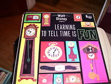 WALT DISNEY PRESENTS LEARNING TO TELL TIME IS FUN-LP-NM