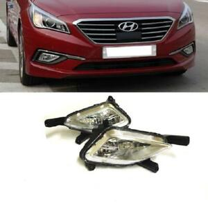 OE Style Pair Fog Light Driving Lamps For 2015-2017 Hyundai Sonata Left Right