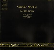 "GERARD MANSET ""LA MORT D' ORION"" PROG FOLK ROCK FRENCH LP PATHE 2 C 066-15628"