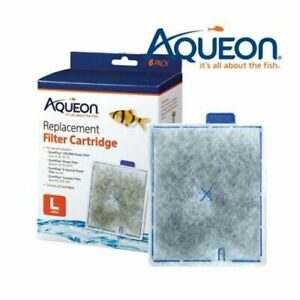 Aqueon Large Replacement Cartridges 6Pack For QuietFlow,Internal 20,30,50,75,40G