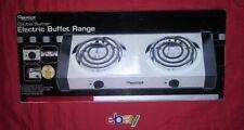 Signature Gourmet Electric 2 Dual Burner Countertop Buffet Range Stove NEW N BOX