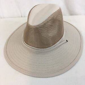Shade Shack Pompano Beach Fl Mens M Beige Vented Hat