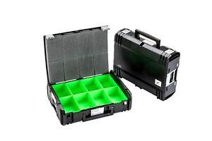 DynaCase THL Sortimentskoffer inkl. grüne Kunststoffboxen