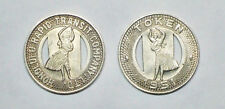 1951 Honolulu Hawaii Bus Token (One) - Hula Girl both sides - FREE SHIP- Nice
