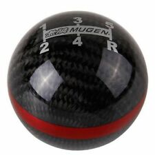 Honda Mugen Style Carbon Fibre 5 Speed Red Line Gear Knob for Civic Type R Si