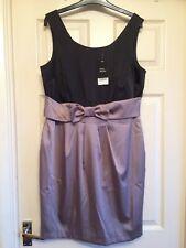 New NEXT Black & Grey Dress (with body shaper lining) Size 16