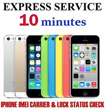 Fast iPhone 6 6 plus MEI  Network & Carrier Check Sim lock status express check