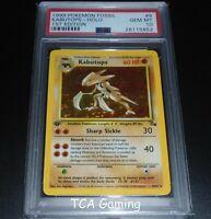 PSA 10 GEM MINT Kabutops 9/62 1ST EDITION Fossil Set HOLO RARE Pokemon Card