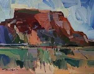 JOSE TRUJILLO Oil Painting IMPRESSIONISM CONTEMPORARY DESERT LANDSCAPE SIGNED