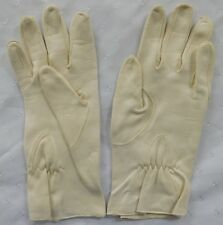 Vintage kid gloves ladies traditional fashion accessories size 6.5 white leather