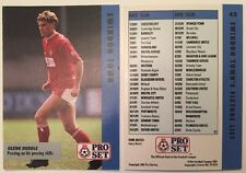 Pro Set Football Trade Swindon Town Fixtures List Feat Glenn Hoddle No 43