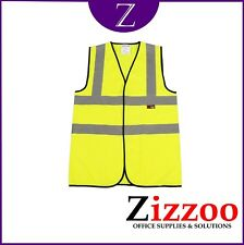 HIGH VISIBILITY VEST SIZE LARGE STAND OUT ON SITE - QUALITY ITEM + FREE POSTAGE