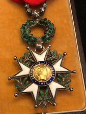 Légion d'Honneur LUXE Diamants Argent Emaillé Décoration dans son Ecrin