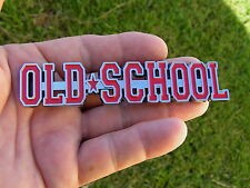 UK ~ OLD SCHOOL Car Emblem RED *NEW* Suit Ford Mustang Thunderbird Fairlane etc