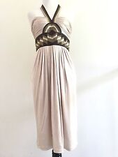 BCBG Maxazria Halter Dress S Small Pleated Loose Fit Formal Evening Sundress