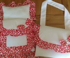 DOLLS PRAM SET & BAG FOR VINTAGE/CARRIAGE/BABY ANNABEL/SMALL PRAMS *HEARTS*