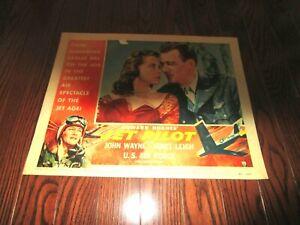 JET PILOT,    ORIGINAL LOBBY #1, WAYNE, LEIGH, HUGHES, 1957