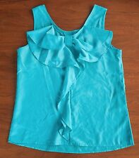 NWT The Limited Women's Size S Sleeveless Tank Blouse Aqua Blue W/ Back Bow Top