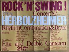 Peter Herbolzheimer 1982 Düsseldorf + + ORIG. Concert-CONCERTO-POSTER a1 foldet