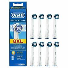 Oral-B Braun Precision Clean Replacement Toothbrush Heads - Pack of 8 GENUINE