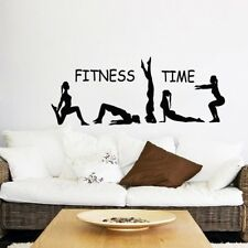Fitness Time Sport Wandtattoo Wallpaper Wand Schmuck 42 x 114  cm Wandbild